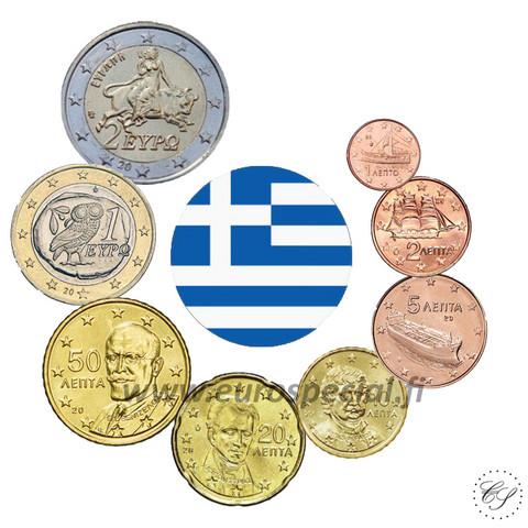 Kreikka 1s - 2 € 2007 UNC
