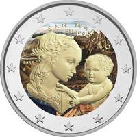 San Marino 2 € 2019 Filippo Lippi 550 v. väritetty (#1)