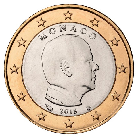 Monaco 1 € 2019 Albert II UNC