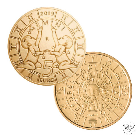 San Marino 5 € 2019 Zodiac - Kaksonen UNC