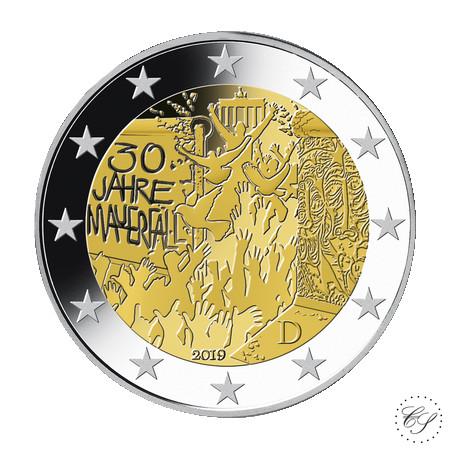 Saksa 2 € 2019 Berliinin muurin murtuminen 30 v.