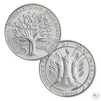 San Marino 5 € 2019 Maailman metsäpäivä hopea BU