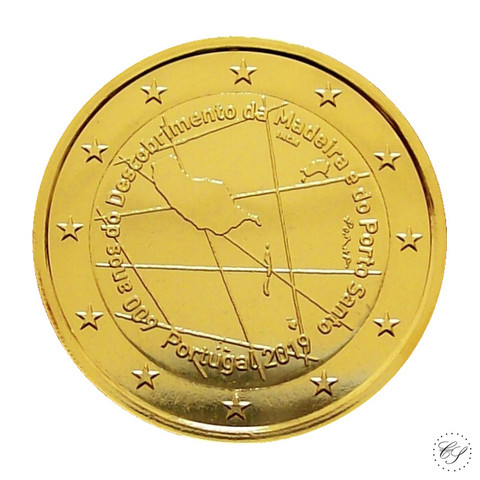 Portugali 2 € 2019 Madeira 600 vuotta KULLATTU