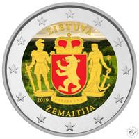 Liettua 2 € 2019 Zemaitija, väritetty (#2)