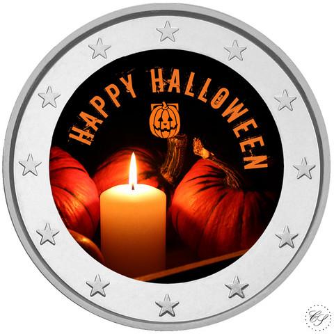 Halloween 2 € 2019- juhlaraha, väritetty
