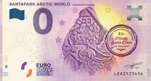Suomi 0 € 2019 Santapark I - Joulupukki UNC
