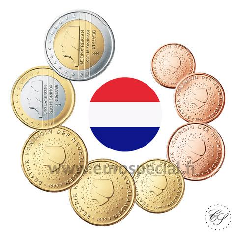 Alankomaat 1s - 2 € 2001 UNC