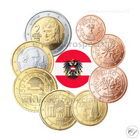 Itävalta 1s - 2 € 2004 UNC