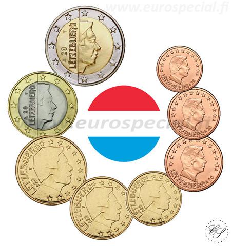 Luxemburg 1s - 2 € 2002 UNC