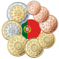 Portugali 1s - 2 € 2008 BU kapseleissa
