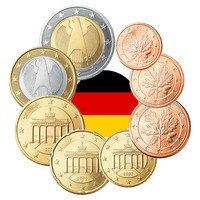 Saksa 1s - 2 € 2002 UNC/BU