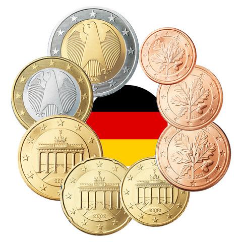 Saksa 1s - 2 € 2005 UNC/BU