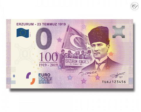 Turkki 0 € 2019 Erzurum  - 23 Temmuz 1919 UNC