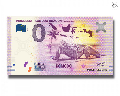 Indonesia 0 € 2019 Komodonvaraani - Villieläinsarja