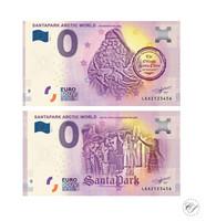 Suomi 0 € 2019 Santapark I & II Joulupukki UNC