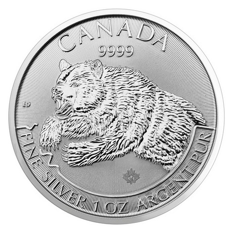 Kanada 5 $ 2019 Grizzly - Harmaakarhu 1oz Ag