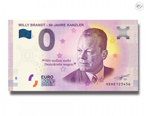 Saksa 0 € 2019 Willy Brandt 50 vuotta UNC