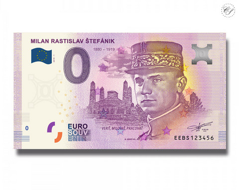 Slovakia 0 € 2019 Milan Rastislav Stefanik I UNC