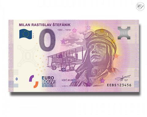 Slovakia 0 € 2019 Milan Rastislav Stefanik II UNC