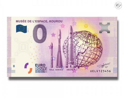 Ranska 0 € 2019 Kourou musée de l'Espace UNC