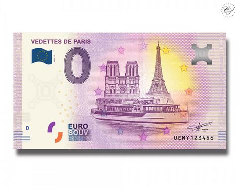 Ranska 0 € 2019 Vedettes de Paris UNC