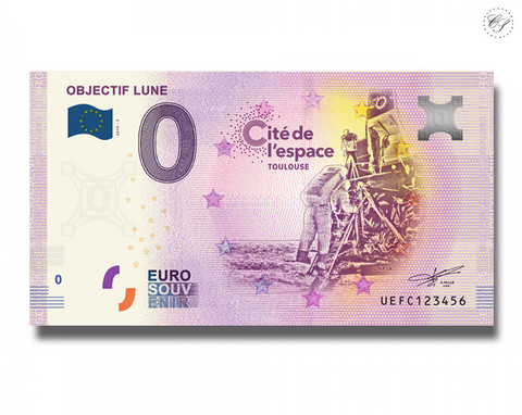 Ranska 0 € 2019 Kuukävely - Objectif Lune UNC