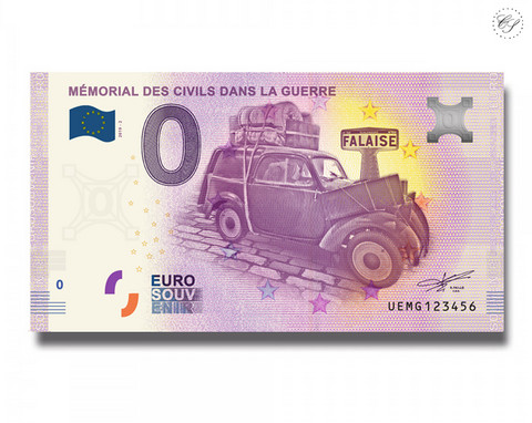 Ranska 0 € 2019 Mémorial des Civils dand la Guerre