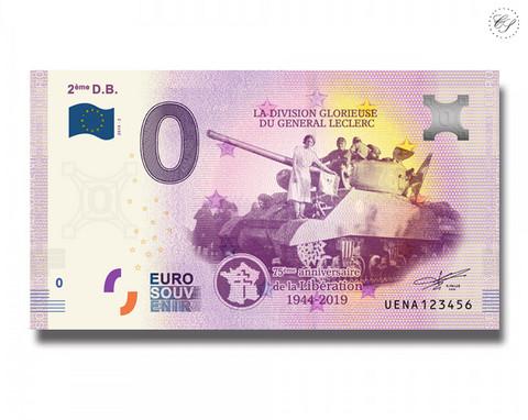 Ranska 0 € 2019 2éme General Leclerc UNC