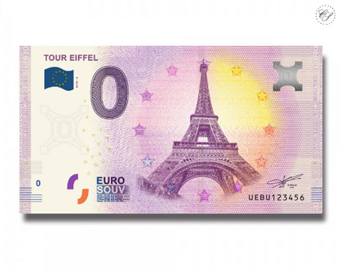Ranska 0 € 2019 Tour Eiffel UNC