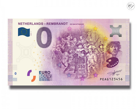 Alankomaat 0 € 2019 Rembrandt - Yövartio UNC