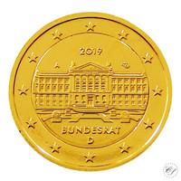 Saksa 2 € 2019 Bundesrat 70 vuotta kullattu