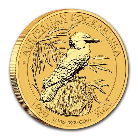 Australia Kookaburra 1/10z 2020 kultakolikko