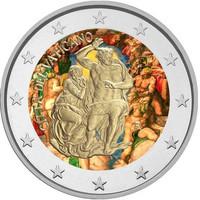Vatikaani 2 € 2019 Sikstuksen kappeli, väritetty (#1)