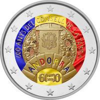 Andorra 2 € 2019 Consell de la Terra, väritetty (#1)