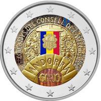 Andorra 2 € 2019 Consell de la Terra, väritetty (#2)