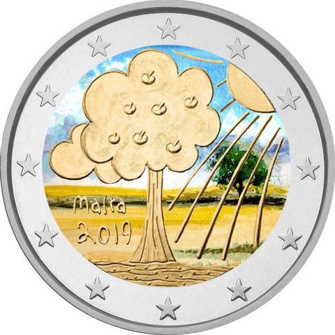 Malta 2 € 2019 Luonto & ympäristö, väritetty (#1)