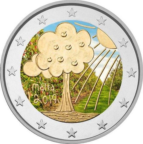 Malta 2 € 2019 Luonto & ympäristö, väritetty (#2)