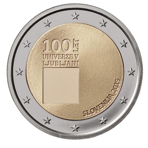 Slovenia 2 € 2019 Ljubljanan yliopisto 100 vuotta