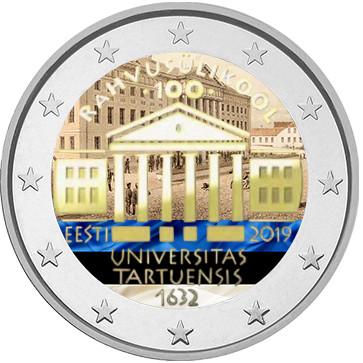 Viro 2 € 2019 Tarton yliopisto, väritetty (#1)
