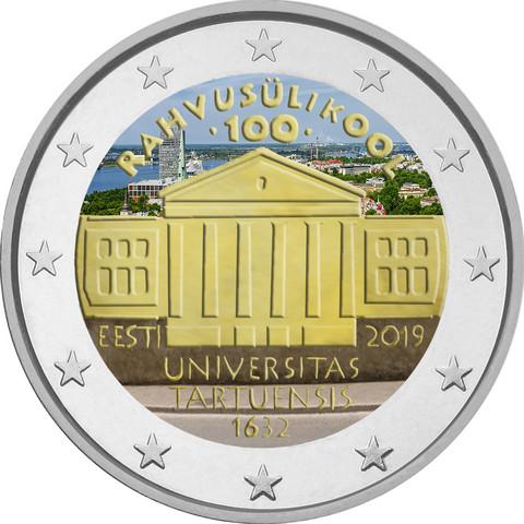 Viro 2 € 2019 Tarton yliopisto, väritetty (#2)