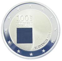Slovenia 2 € 2019 Ljubljanan yliopisto 100 v., Proof