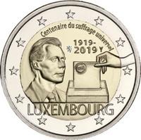 Luxemburg 2 € 2019 Yleinen äänioikeus 100 v.