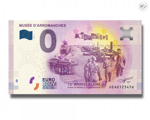 Ranska 0 € 2019 Museé d'Arromanches UNC