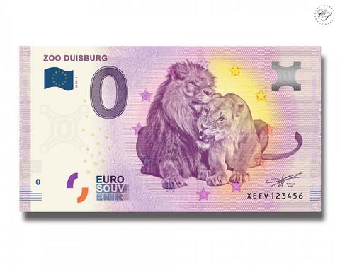 Saksa 0 € 2019 Leijonaseteli - Zoo Duisburg UNC