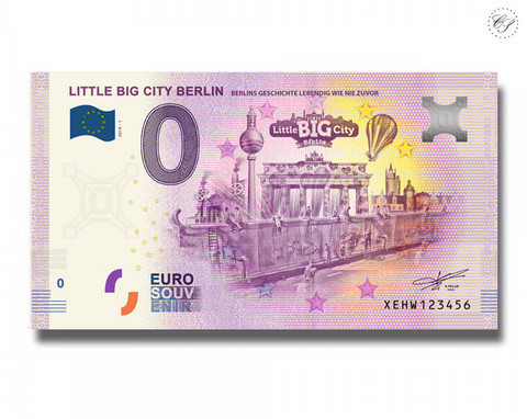 Saksa 0 € 2019 Berliini - iso & pieni kaupunki UNC