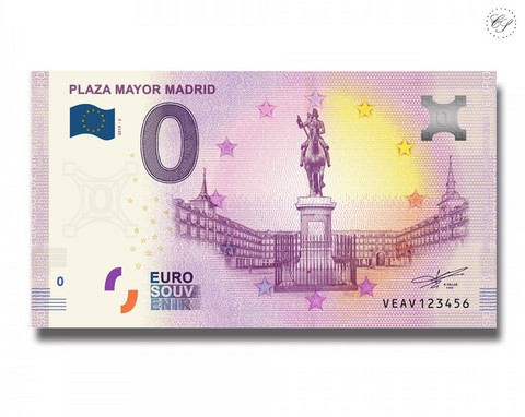 Espanja 0 € 2019 Plaza Mayor Madrid UNC