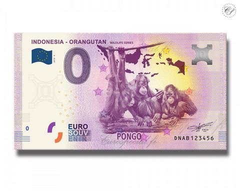 Indonesia 0 € 2019 Orangit - Villieläinsarja UNC
