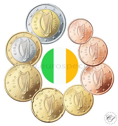 Irlanti 1s - 2 € 2007 UNC