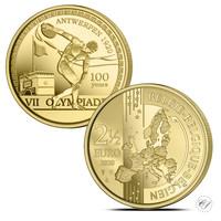 Belgia 2,5 € 2020 Antwerpenin olympialaiset 100 vuotta BU
