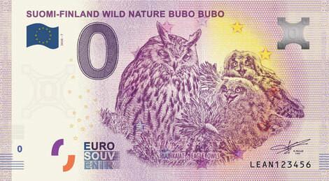 Suomi 0 € 2020 Villi luonto - Huuhkajat